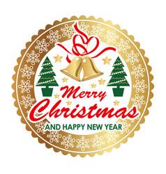 christmas emblem design element vector image