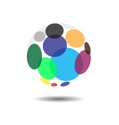 Circular Bubble Logo Icon Concept vector