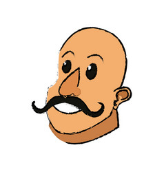 Circus strong man mustache muscle vector