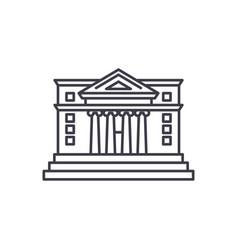 city hall line icon concept city hall vector image
