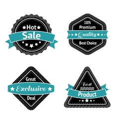 Collection of sale label stickers vector image
