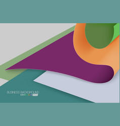 Colored paper overlapping scene vector