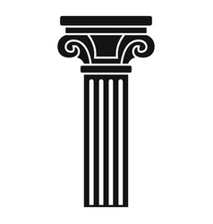 column icon simple style vector image