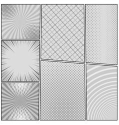 Comic book page monochrome concept vector