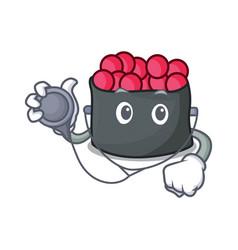 Doctor ikura character cartoon style vector