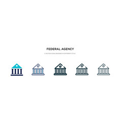 Federal agency icon in different style two vector