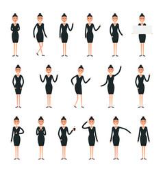 female character creation setbusinesswomen vector image