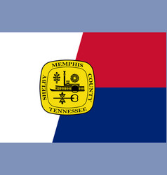 Flag memphis in tennessee usa vector