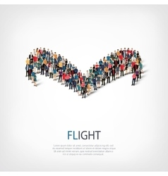flight people sign 3d vector image vector image