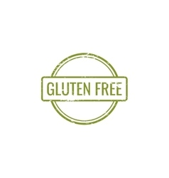 Gluten Free label vector