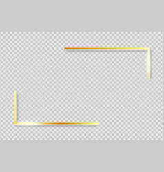 Golden frame elements gold angles border vector