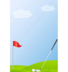golf stick and golf ball vector image