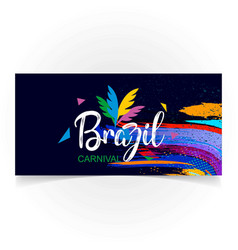 happy brazilian carnival day blue carnival banner vector image