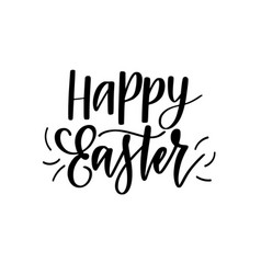 happy easter digital brush calligraphy vector image