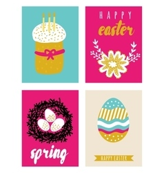 Happy easter greeting cards template vector