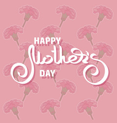 happy mothers day greeting card with pink vector image