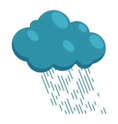 Heavy rain icon in cartoon style vector image