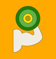 Icon in flat design logo bicep vector
