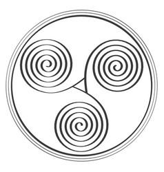 Icon with ancient symbol triskel vector