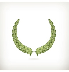 Laurel wreath green vector image vector image