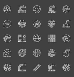 made in china business icons vector image