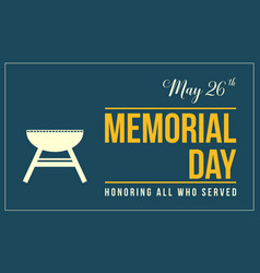 Memorial day background style collection vector