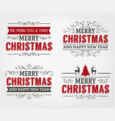 merry christmas label collection vector image