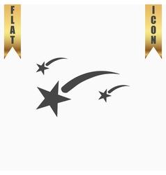 Meteor flat icon vector image