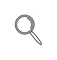 Modern magnifier icon vector