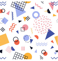 Modern seamless pattern with colorful lines vector