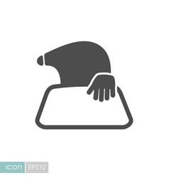 Mole icon for garden craft vector