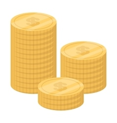 Money donation icon in cartoon style isolated on vector image