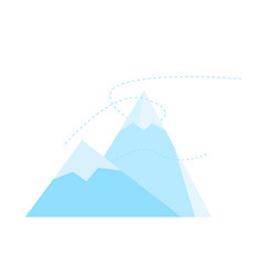mountain icon mountain peak symbol flat isolated vector image