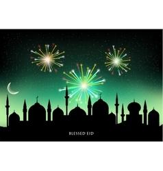 Muslim community festival Eid Mubarak vector