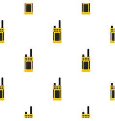 Portable radio transmitter pattern flat vector
