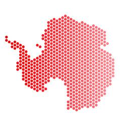Red dot antarctica map vector