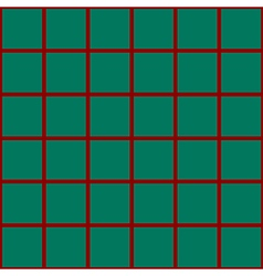 Red Grid Chess Board Green Background vector