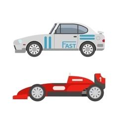 Retro sport car vector image