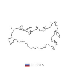 russia russian federation map line linear thin vector image