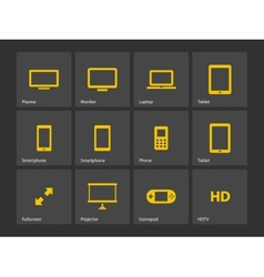 Screens icons vector