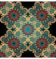 Seamless paisley Mandala abstract pattern Tiled vector image