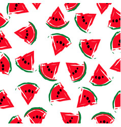 seamless watermelons pattern vector image