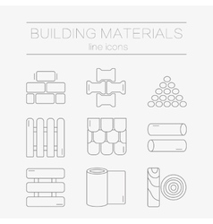 set line icons for diy construction building vector image