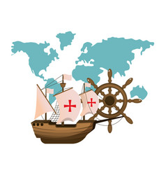 Ship transport with global map and rudder vector