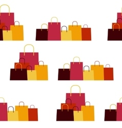 Shopping Bag Design Seamless Pattern Background vector