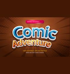 Smash comic cartoon style editable text effect vector