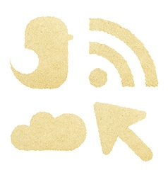 Social Media Paper Icon Network vector image