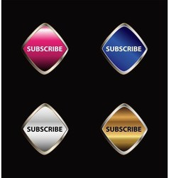 Subscribe button tag set vector