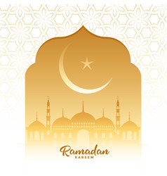 Traditional wishes card ramadan kareem vector