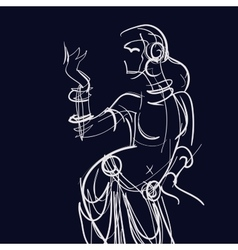 tribal fusion gypsy dancer vector image